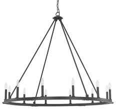 pearson 12 light chandelier black iron