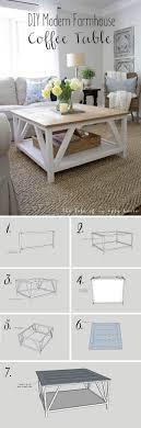 long diy farmhouse coffee table ideas