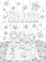 Adult American Girl Coloring Pages Printable American Girl Coloring