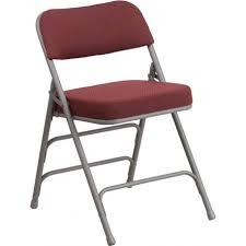 metal folding chairs with padded seats. Beautiful Metal Rivera Padded Metal Folding Chair Burgundy Fabric SeatBack 25u0027u0027 Foam Throughout Chairs With Seats F