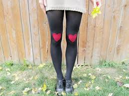 brideblu life loves and handmade diy heart knee patched tights
