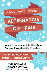 kirkland interfaith network alternative gift fair november 4 5 kirkland views