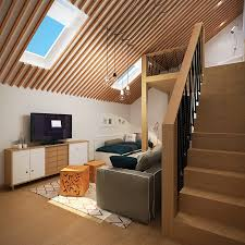 Pitched roof lighting ideas Side Pitchedroofapartment Interior Design Ideas Pitchedroofapartment Interior Design Ideas