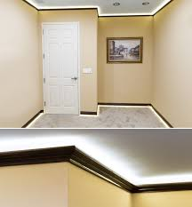 nfls led non weatherproof light strips were installed above the crown molding on the ceiling