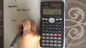 factoring a quadratic equation using a calculator casio fx 30ms