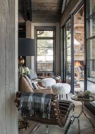 Contemporary Sunroom Furniture Contemporary Mountain Getaway With Rustic Accents Skiing