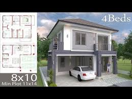 House Plans Idea 12x6.5 with 4 bedroomsThe House has:Building size (m X m)  : 12.50 x 6.50Land siz… in 2020 | Architectural house plans, Home design  plan, Small house design