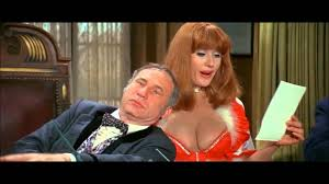 The redhead secretary in blazing saddles