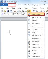 di word where is the page setup in microsoft word 2007 2010 2013 and 2016