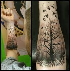 татуировки леса на руке тату дерево фото эскизы значение