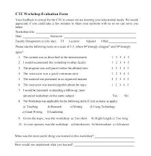 Workshop Evaluation Form Amazing Customer Questionnaire Template Survey Form Word Sample Format Free