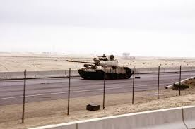 gulf war for kids kiddle an abandoned i type 69 tank on the road into city during the gulf war