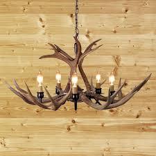 durango authentic whitetail or mule deer 8 antler chandelier fixture