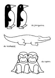 De Pinguins De Krokodil De Apen Samen Met De Jongens Dieren