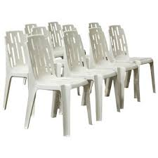 white garden chair by pierre paulin