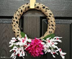 my dollar diy diy polka dot burlap faux fl spring wreath