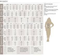 Womens Pendleton Clothing Size Chart