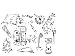 Camping Coloring Pages To Print Camelliacottageinfo