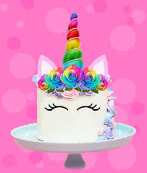 image is loading rainbow unicorn horn ears flowers edible stand up