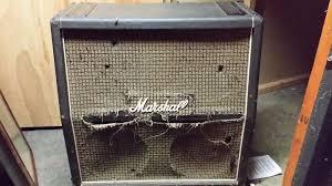1974 vintage Marshall 4x12 cabinet + Celestion G12M T1511 ...