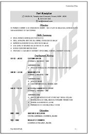 Basic Resume Template Australia Sample Resume For Australian Jobs