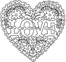 Coloring Page World Love And Flowers Heart Free Printable