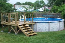 Above Ground Swimming Pool Deck Designs Awesome Inspiration