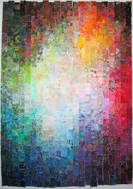 130 best Watercolor or colorwash quilts images on Pinterest ... & Colorwash strip quilt by Wanda Hanson at Exuberant Color Adamdwight.com