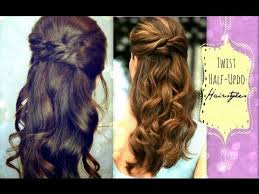 Formal Hairstyles For Medium Hair 15 Awesome ☆CUTE HAIRSTYLES HAIR TUTORIAL WITH TWISTCROSSED CURLY HALFUP