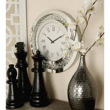 trendy mirror wall clock room decorating ideas 20 in modern round wood and 87310 the home