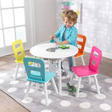 kid play table round storage chair set highlighter toy activity kid tables furniture kidkraft ff