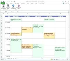 schedule creater free excel class online online class schedule planner calendar