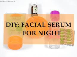diy serum for night new love