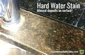 how to clean hard water stains off granite countertops granite water stains with how to remove water stains from