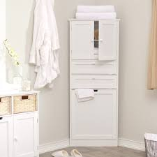 Wooden Corner Bathroom Cabinet White Wooden Corner Bathroom Cabinet Home Design Ideas