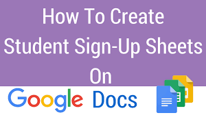 How To Make A Signup Sheet On Word How To Create A Student SignUp Sheet On Google Docs YouTube 20