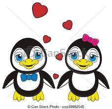 cute penguins in love drawings. Fine Love Cute Little Penguin  Csp39982545 In Cute Penguins Love Drawings G