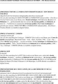 Cours De Dessin Technique Travaux Publics Et Batiment Pdf Pdf Tp De Dessin Technique L