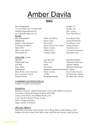 Sample Theatre Resumes Awesome Collection Of Theatre Audition Resume Theatre Resume Example