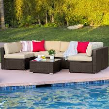 Small Picture Best Choice Products 7pc Outdoor Patio Garden Furniture Wicker