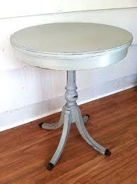 antique round side table vintage black round side table painted gray by vintage side table with