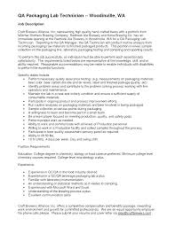 Resume For Packaging Job Best solutions Of Controls Technician Job Description with 33
