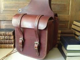 leather motorcycle saddle bags motorbike bags scooter image 0