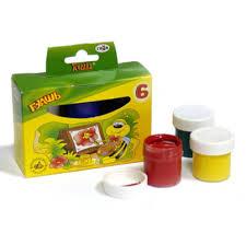 <b>Гуашь ГАММА Пчёлка</b> в наборе 6 цветов в картонной коробке ...