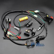 chinese wiring harness promotion shop for promotional chinese complete engine electrics wiring harness spark plug ac cdi ignition coil kits for chinese dirt bike 150 250cc zongshen loncin