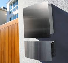modern wall mount mailbox. Stunning Wall Mailbox And Newspaper Holder Stainless Steel Style With Mounted Holders. Modern Mount L
