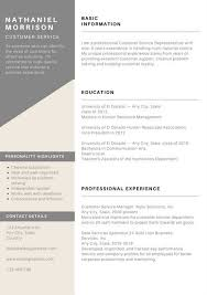 Grey Minimal Customer Service Resume