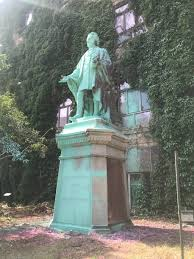 "The Eyeopener on Twitter: ""BREAKING: The Egerton Ryerson statue has been  tagged for the second time, just one week after protestors from @BLM_TO  splashed pink paint on it. It's unclear who is"