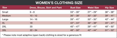 Womens Size Chart Rolling Spokes