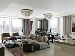 living and dining with l ch andeliers living room contemporary and open floor plan